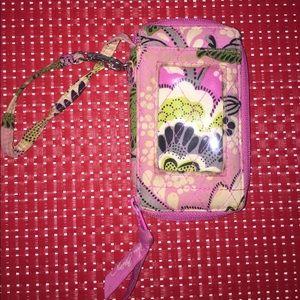 Vera Bradley pink and green Wrist wallet